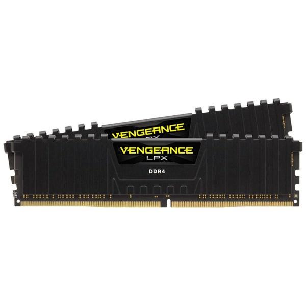 【送料無料】 CORSAIR(コルセア) 増設メモリ Vengeance LPXシリーズ 16GB 8GB×2枚組 CMK16GX4M2B3000C15 [DIMM DDR4 /8GB /2枚]