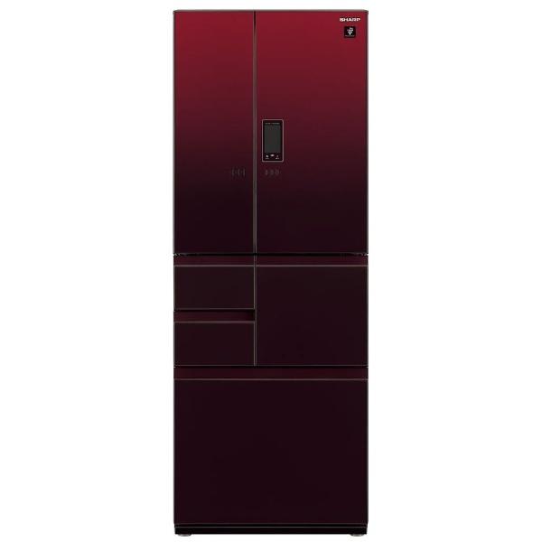 【標準設置費込み】 シャープ SHARP 《基本設置料金セット》SJ-GX50E-R 冷蔵庫 グラデーションレッド [6ドア /観音開きタイプ /502L]