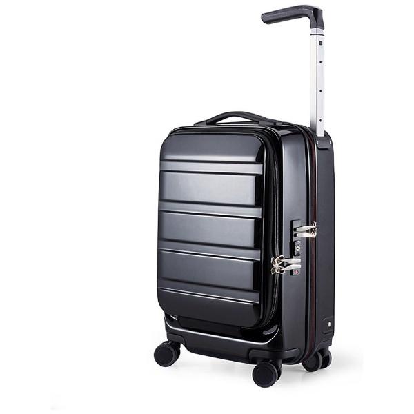 【送料無料】 サンコー鞄 静音大型双輪キャスター搭載 ハードスーツケース ACTIVE CUBE 03 (32L)ブラック(機内持ち込みサイズ)