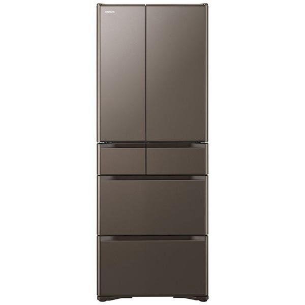 【標準設置費込み】 日立 HITACHI 《基本設置料金セット》R-XG48J 冷蔵庫 グレイッシュブラウン [6ドア /観音開きタイプ /475L]