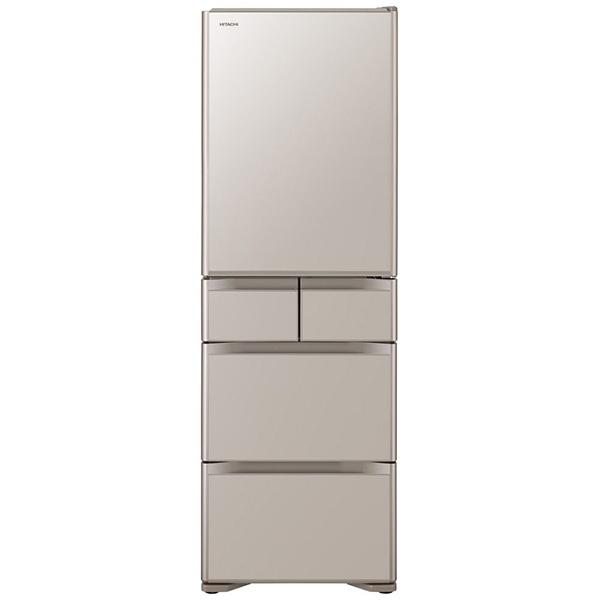 【標準設置費込み】 日立 HITACHI 《基本設置料金セット》R-S40J-XN 冷蔵庫 クリスタルシャンパン [5ドア /右開きタイプ /401]