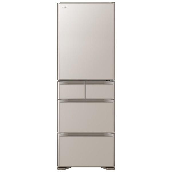 【標準設置費込み】 日立 HITACHI 《基本設置料金セット》R-S50J-XN 冷蔵庫 クリスタルシャンパン [5ドア /右開きタイプ /501]