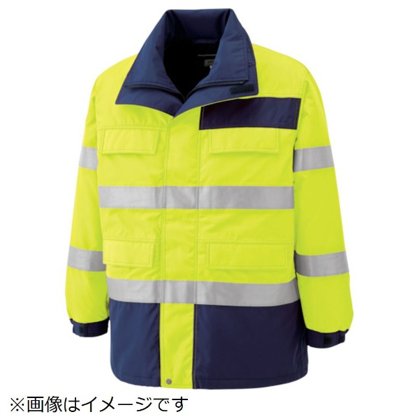 【送料無料】 ミドリ安全 ミドリ安全 高視認性 防水帯電防止防寒コート イエロー S