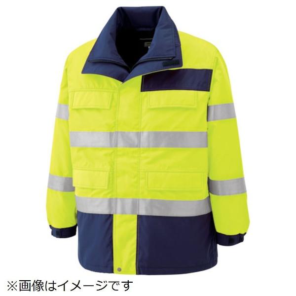 【送料無料】 ミドリ安全 ミドリ安全 高視認性 防水帯電防止防寒コート イエロー L