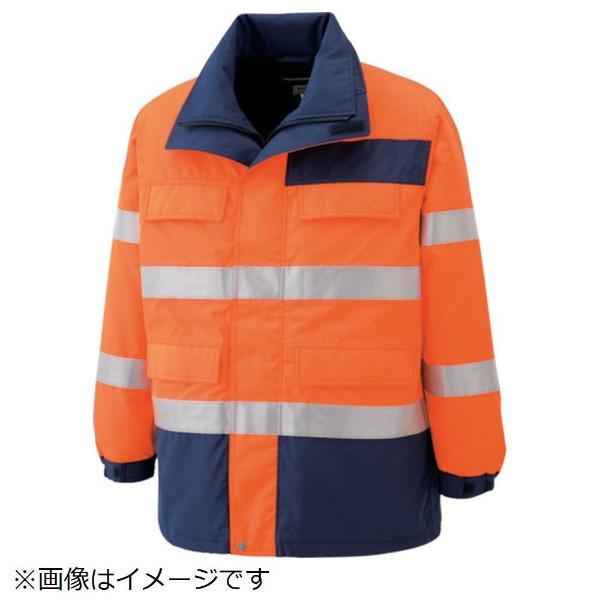 【送料無料】 ミドリ安全 ミドリ安全 高視認性 防水帯電防止防寒コート オレンジ 4L