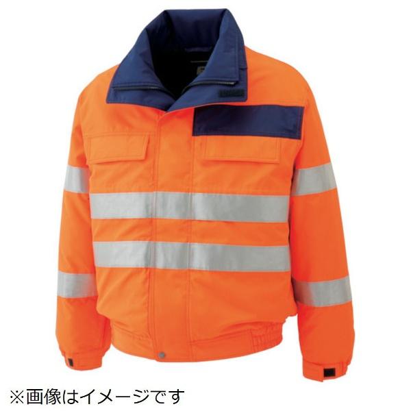 【送料無料】 ミドリ安全 ミドリ安全 高視認性 防水帯電防止防寒ブルゾン オレンジ LL