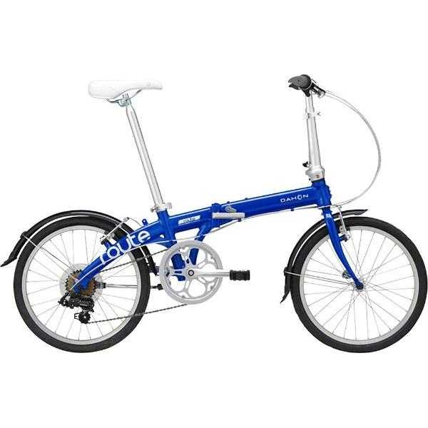 【送料無料】 DAHON 20型 折りたたみ自転車 Route(コバルトブルー/外装7段変速)【2019年モデル】【組立商品につき返品不可】 【代金引換配送不可】【メーカー直送・代金引換不可・時間指定・返品不可】
