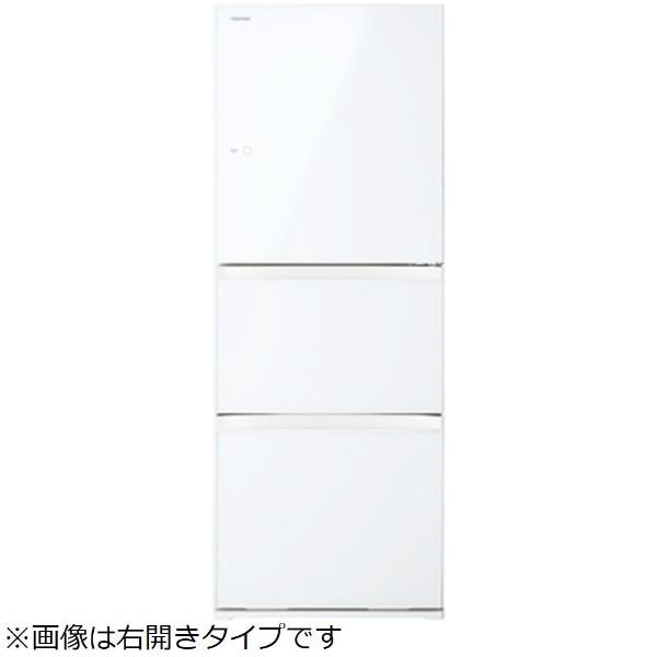 【標準設置費込み】 東芝 TOSHIBA 《基本設置料金セット》GR-M33SXVL(EW) 冷蔵庫 VEGETA(ベジータ) グランホワイト [3ドア /左開きタイプ /330L]