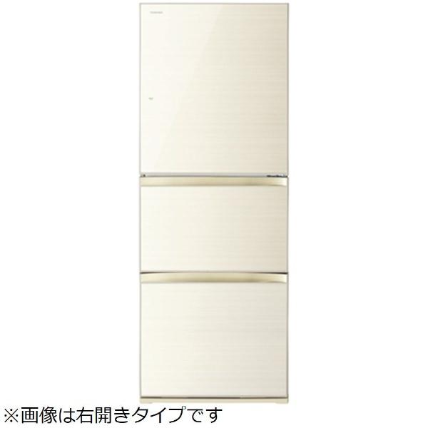 【標準設置費込み】 東芝 TOSHIBA 《基本設置料金セット》GR-M33SXVL(ZC) 冷蔵庫 VEGETA(ベジータ) ラピスアイボリー [3ドア /左開きタイプ /330L]