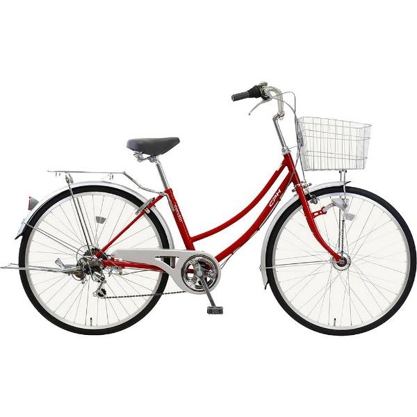 【送料無料】 MARUKIN 26型 自転車 CPH(レッド/6段変速) MK-18-050【2019年モデル】【組立商品につき返品不可】 【代金引換配送不可】【メーカー直送・代金引換不可・時間指定・返品不可】