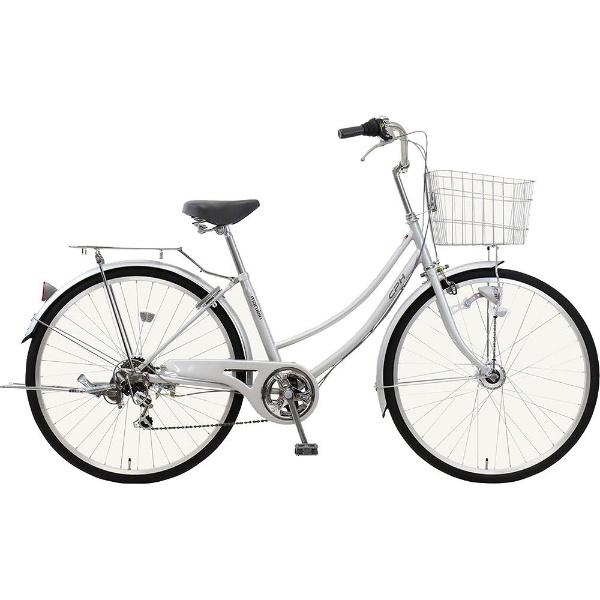 【送料無料】 MARUKIN 26型 自転車 CPH(シルバー/6段変速) MK-18-050【2019年モデル】【組立商品につき返品不可】 【代金引換配送不可】【メーカー直送・代金引換不可・時間指定・返品不可】