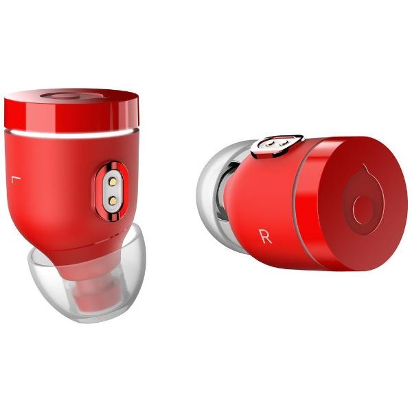 【送料無料】 crazybaby フルワイヤレスイヤホン Air by crazybaby nano MC7B6GT/A レッド [防滴&左右分離タイプ /Bluetooth]