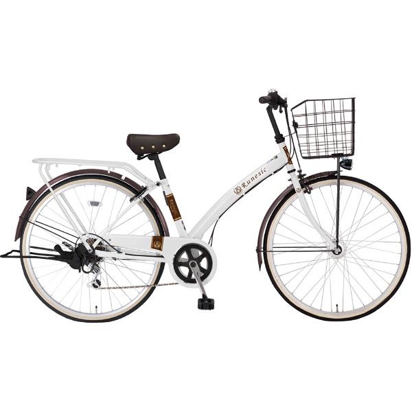 【送料無料】 MARUKIN 27型 自転車 ルネシック276-X(ホワイト/6段変速)MK-18-053【2019年モデル】【組立商品につき返品不可】 【代金引換配送不可】【メーカー直送・代金引換不可・時間指定・返品不可】