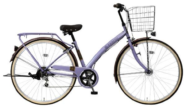 【送料無料】 MARUKIN 27型 自転車 ルネシック276-X(ライトパープル/6段変速)MK-18-053【組立商品につき返品不可】 【代金引換配送不可】【メーカー直送・代金引換不可・時間指定・返品不可】