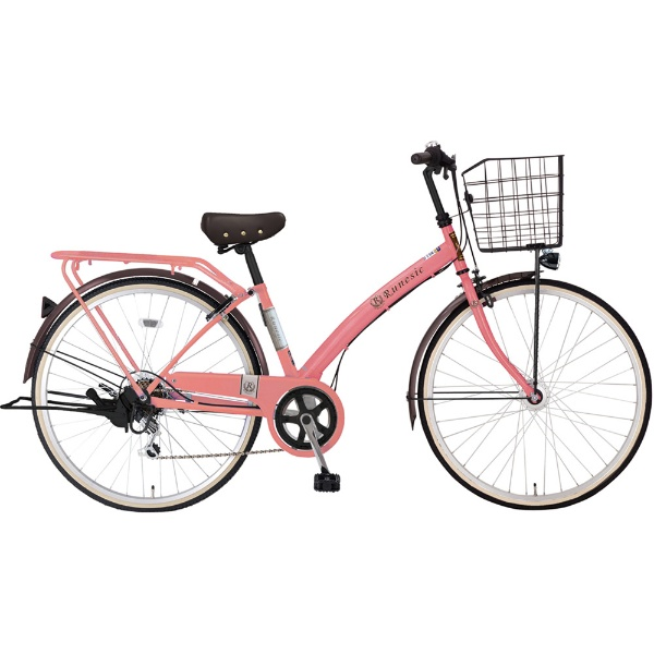 【送料無料】 MARUKIN 27型 自転車 ルネシック276-X(ピンク/6段変速)MK-18-053【組立商品につき返品不可】 【代金引換配送不可】【メーカー直送・代金引換不可・時間指定・返品不可】