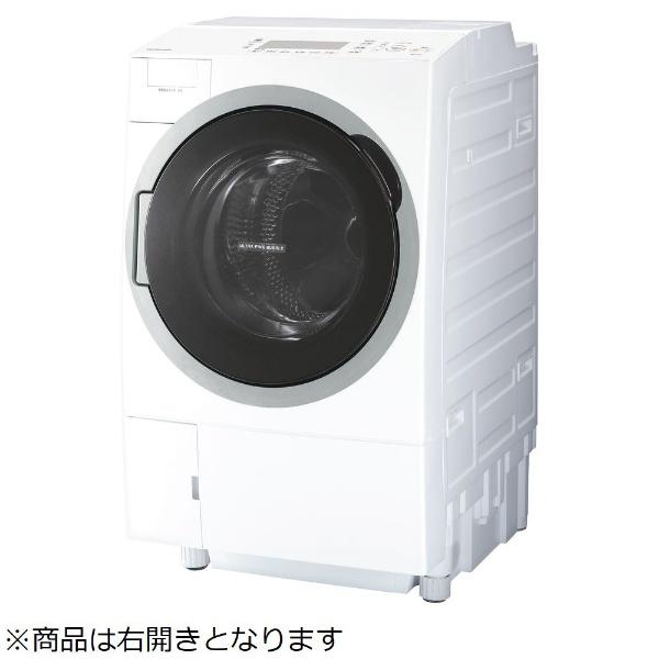 【標準設置費込み】 東芝 TOSHIBA TW-127V7R-W ドラム式洗濯乾燥機 グランホワイト [洗濯12.0kg /乾燥7.0kg /ヒートポンプ乾燥 /右開き]