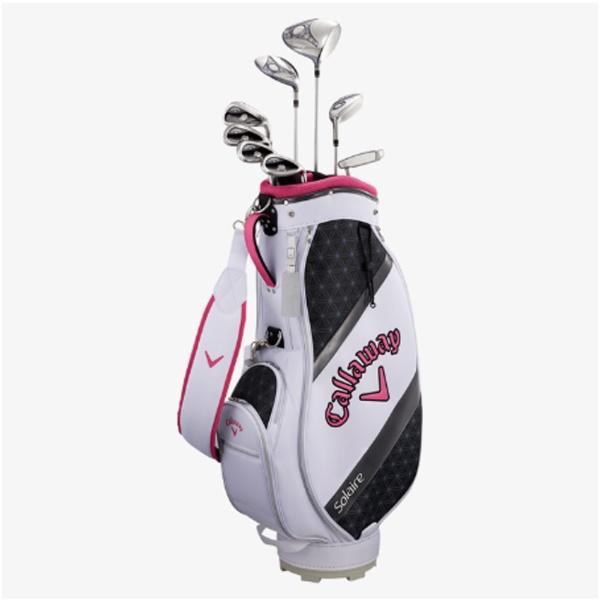 【送料無料】 キャロウェイ レディース ゴルフクラブセット ソレイル パッケージセット ピンク《キャディバッグ付//W#1、W#5、6H、Ir#7、Ir#9、PW、SW、PT》