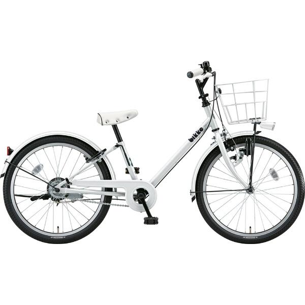 【送料無料】 ブリヂストン 22型 子供用自転車 bikke j(ホワイト×シングル/シングルシフト)BK22VJ【2019年モデル】 【代金引換配送不可】