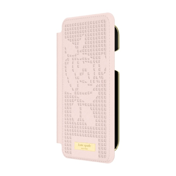 INLAY WRAP FOLIO ROSE PERF 【送料無料】 iPhone XS Max KATESPADE 6.5インチ用