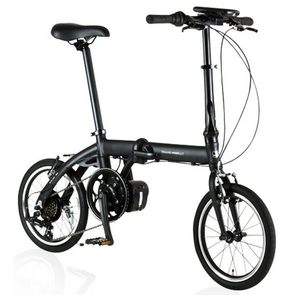 【送料無料】 ジック 16型 電動アシスト折りたたみ自転車 ULTRA LIGHT E-BIKE TRANS MOBILLY(ブラック/6段変速) E-BIKE166E【組立商品につき返品不可】 【代金引換配送不可】