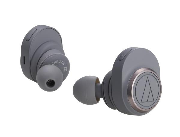 【2018年11月09日発売】 【送料無料】 オーディオテクニカ フルワイヤレスイヤホン ATH-CKR7TW GY グレー [マイク対応 /左右分離タイプ /Bluetooth]