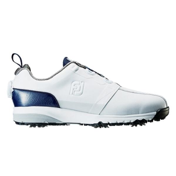 【送料無料】 フットジョイ メンズ ゴルフシューズ FJ ULTRA FIT(25.5cm/ホワイト+ネイビー)#54141【靴幅:2E】