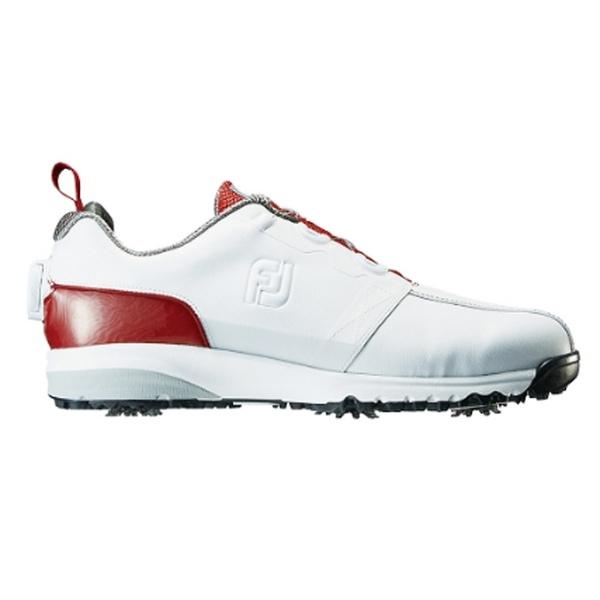 【送料無料】 フットジョイ メンズ ゴルフシューズ FJ ULTRA FIT(25.5cm/ホワイト+レッド)#54143【靴幅:2E】
