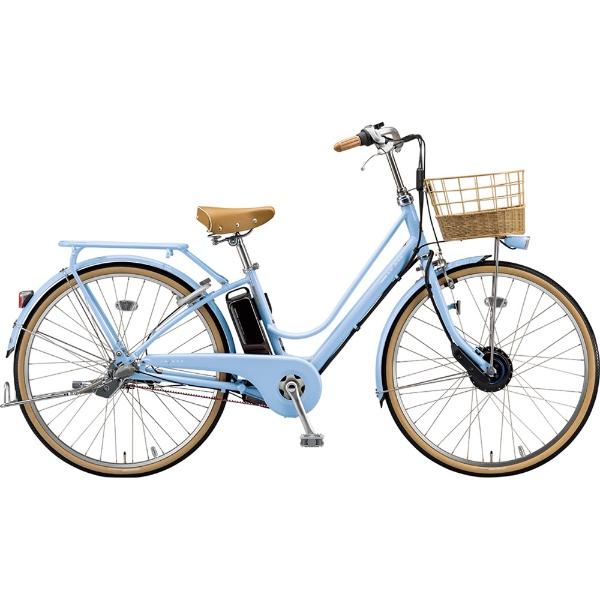 【送料無料】 ブリヂストン 26型 電動アシスト自転車 カジュナ e スイートライン (E.Xカームブルー/内装3段変速) CS6B49【2019年モデル】【組立商品につき返品不可】 【代金引換配送不可】