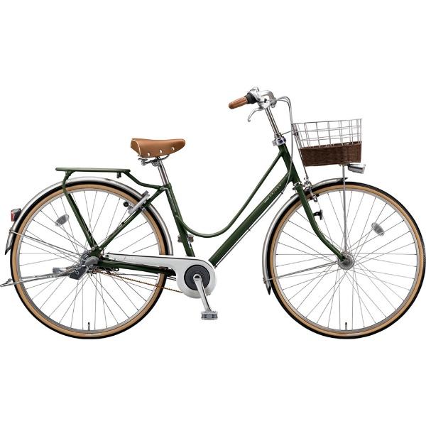 【送料無料】 ブリヂストン 27型 自転車 カジュナ ベーシックライン デラックス(E.Xダークオリーブ/3段変速/ベルトモデル) CB73B【2019年モデル】 【代金引換配送不可】