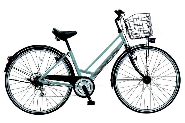 【送料無料】 MARUKIN 27型 自転車 レアルタシティ 276-X(ライトブルー/6段変速) MK-18-079【2019年モデル】【組立商品につき返品不可】 【代金引換配送不可】【メーカー直送・代金引換不可・時間指定・返品不可】