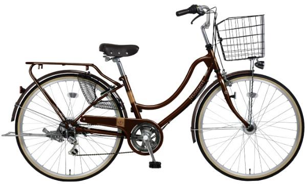 【送料無料】 MARUKIN 26型 自転車 フロートミックス 266-W(ダークブラウン/6段変速) MK-18-068【2019年モデル】【組立商品につき返品不可】 【代金引換配送不可】【メーカー直送・代金引換不可・時間指定・返品不可】