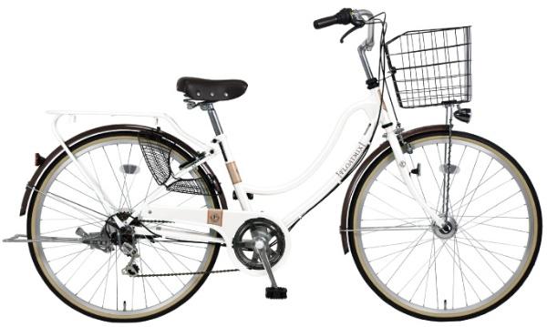 【送料無料】 MARUKIN 27型 自転車 フロートミックス 276-W(ホワイト/6段変速) MK-18-069【2019年モデル】【組立商品につき返品不可】 【代金引換配送不可】【メーカー直送・代金引換不可・時間指定・返品不可】