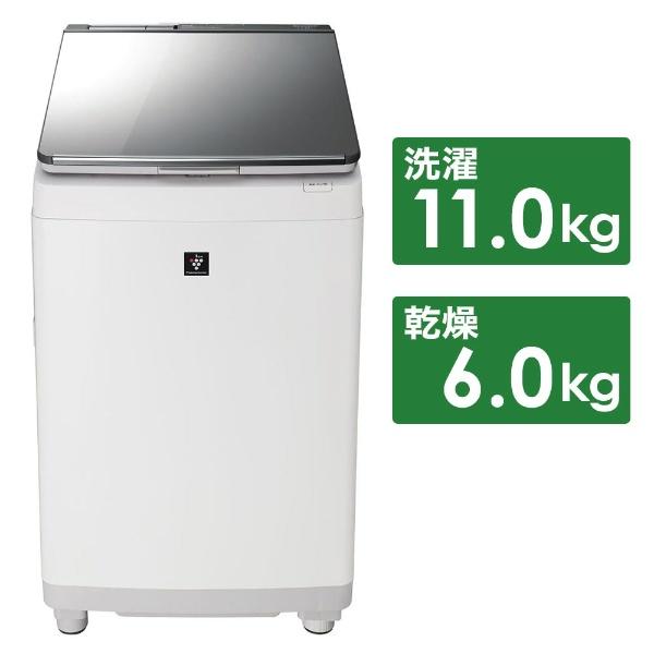 【標準設置費込み】 シャープ SHARP ES-PU11C-S 縦型洗濯乾燥機 シルバー [洗濯11.0kg /乾燥6.0kg /ヒーター乾燥 /上開き]