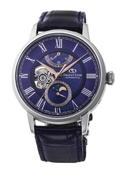 【送料無料】 オリエント時計 オリエントスター(OrientStar)クラシック「メカニカルムーンフェイズ」500本限定モデル RK-AM0006L