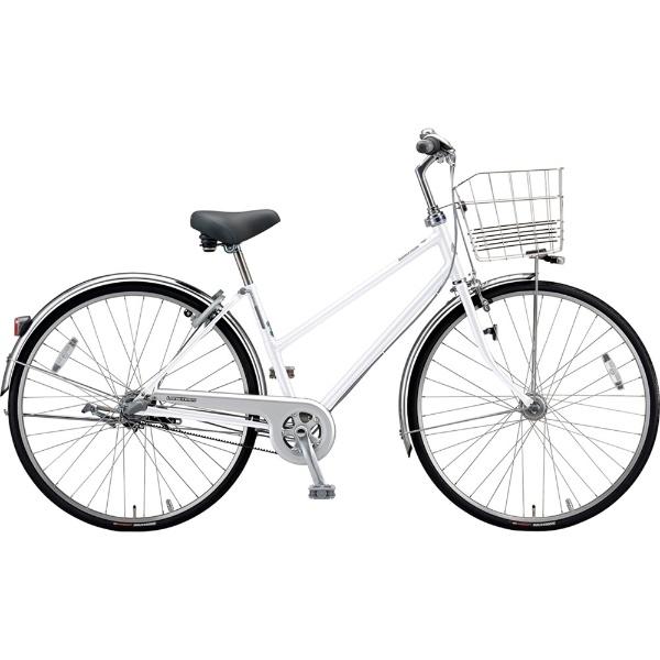 【送料無料】 ブリヂストン 27型 自転車 ロングティーン ベルト S型(P.Xスノーホワイト/3段変速)LT73SB【2019年モデル】【組立商品につき返品不可】 【代金引換配送不可】