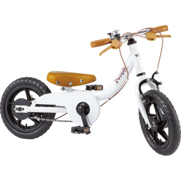 【送料無料】 ピープル 12型 子供用自転車 ケッターサイクル(ブルーミングホワイト) YGA311【2019年モデル】【組立商品につき返品不可】 【代金引換配送不可】【メーカー直送・代金引換不可・時間指定・返品不可】