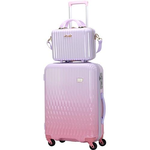 【送料無料】 シフレ ルナルクス スーツケース ハード ジッパーフレーム LUN2116-48WHPK/PK ホワイトピンク/ピンク [32L]