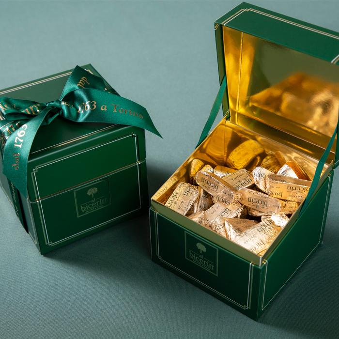 ビチェリン トレジャーボックス ジャンドゥイヤ 50個入り チョコレート ビジネス手土産にぴったりな人気の高級スイーツ おもたせ ギフト 個包装 ジャンドゥーヤ 内祝いにも