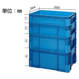 スタックコンテナ容量37L【設備管理・収納用品/コンテナ】