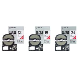 テプラPROカートリッジ18mm白L5本【電子文具/テプラカートリッジ】