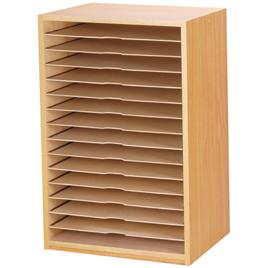 画用紙整理棚15段【教育用ペーパー/画用紙整理棚・作品乾燥棚】