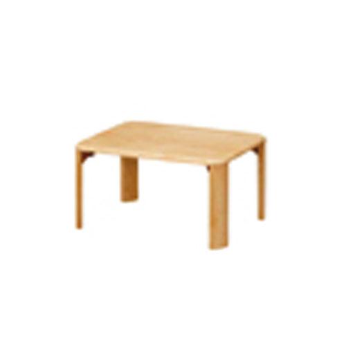 折脚集成材テーブルナチュラル60×45【整理保管・事務用家具/会議用テーブル】