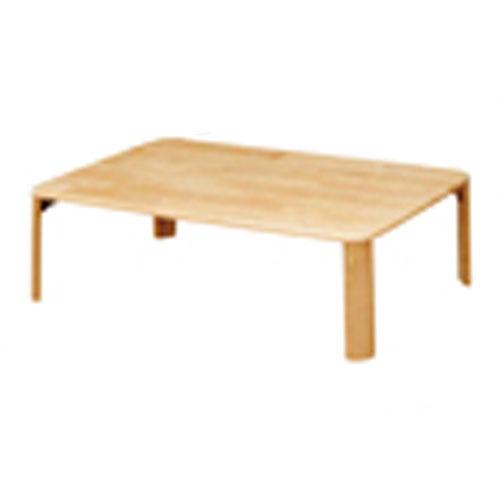 折脚集成材テーブルナチュラル105×75【整理保管・事務用家具/会議用テーブル】