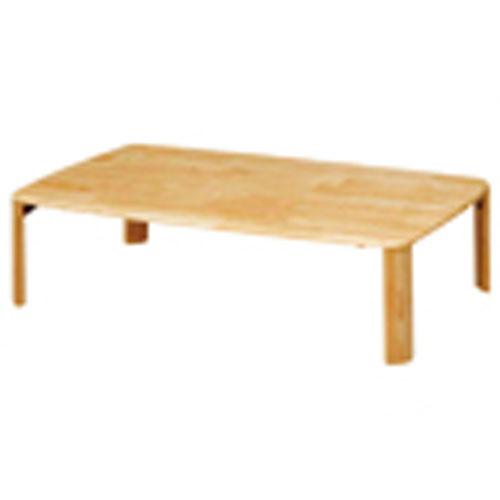 折脚集成材テーブルナチュラル120×75【整理保管・事務用家具/会議用テーブル】