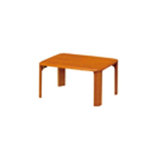 折脚集成材テーブルブラウン60×45【整理保管・事務用家具/会議用テーブル】