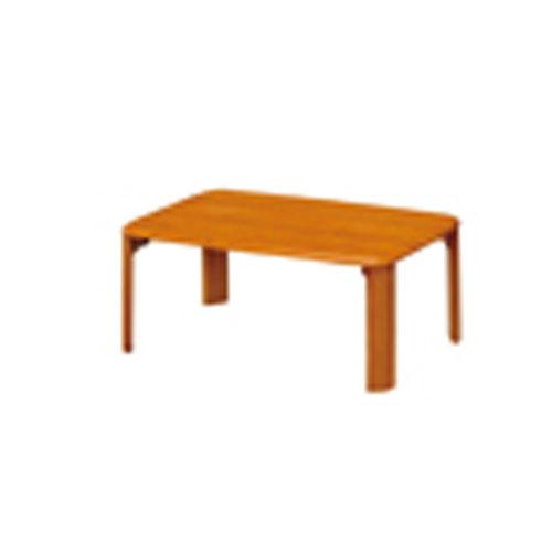 折脚集成材テーブルブラウン75×50【整理保管・事務用家具/会議用テーブル】