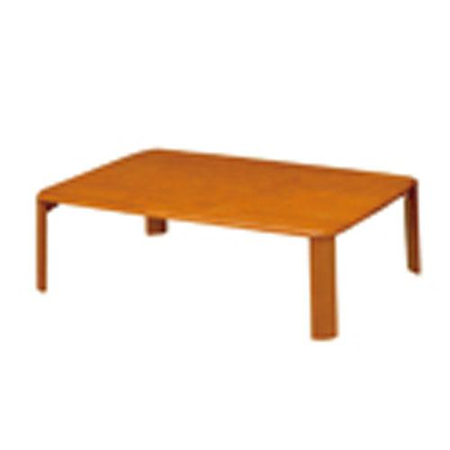 折脚集成材テーブルブラウン105×75【整理保管・事務用家具/会議用テーブル】