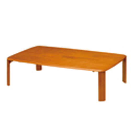 折脚集成材テーブルブラウン120×75【整理保管・事務用家具/会議用テーブル】