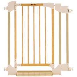 木のオートロックゲート【乳幼児用品/ベビーサークル・ゲート】