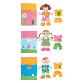 きせかえ人形あそびセット(3体組)【知育玩具/3歳/4歳/5歳/6歳/室内遊具/お人形】